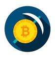 bitcoin mining circle icon vector image vector image
