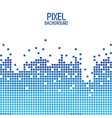 blue pixel background design over white vector image vector image