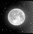 bright full moon in clear night sky vector image vector image