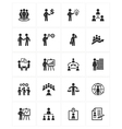Business Management Icons vector image vector image
