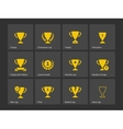 Champions trophy icons vector image vector image