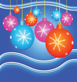 christmas background with decorate ball vector image vector image