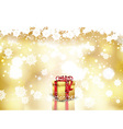 christmas gift background 0810 vector image vector image