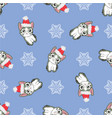 christmas seamless pattern with the image of vector image