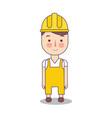 Construction worker handy man in yellow helmet
