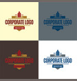 corporate logo and icon vector image