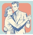 couple dancing man and woman vector image
