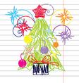 Crayon Christmas tree vector image vector image