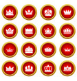 crown gold icons set simple style vector image vector image