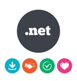 Domain NET sign icon Top-level internet domain vector image vector image