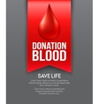 Donate blood poster design vector image vector image
