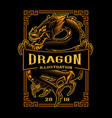 dragon t-shirt design vector image