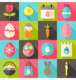 easter flat styled icon set 2 with long shadow vector image vector image
