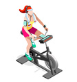 Exercise Bike Spinning Gym Class Isometric Image vector image vector image