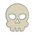 extreme skull isolated icon vector image vector image