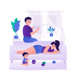 family with a child relaxing at home the family vector image