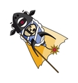 fireworks ewe with angry facial expression vector image
