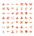fly icons vector image vector image