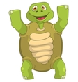 Funny Turtle Winner vector image vector image