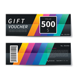 gift voucher discount template design vector image vector image
