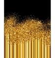 Golden sparkles background vector image