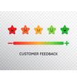 happy customer symbol feedback design with vector image vector image