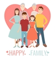 Happy Family Traditional family portrait vector image