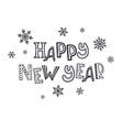 happy new year zentangle vector image vector image