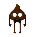 happy poop emoji vector image
