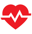 Heart rate icon vector image