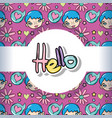 hello pattern background vector image vector image