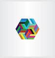 hexagon colorful symbol design element vector image vector image