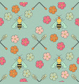 honey patterns vector image