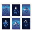 iceberg in ocean banners a large piece a vector image vector image