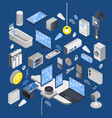 iot internet of things isometric composition vector image vector image