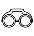 isolated binocular icon vector image