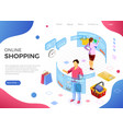 isometric virtual augmented reality shopping vector image