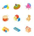 Kind of toys icons set cartoon style vector image vector image