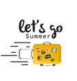 lets go summer baggage background image vector image vector image