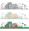 linear cityscape concept vector image