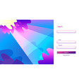 login form abstract sea landscape website vector image