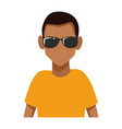 Man with sunglasses cartoon