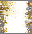 merry christmas and happy new year banner design vector image vector image