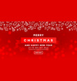 merry christmas card with a christmas pattern on vector image vector image