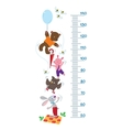 Meter wall with funny animals vector image