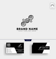 molecular dna logo template and business card vector image