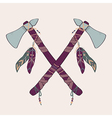native American indian tomahawks vector image vector image