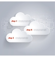 Network clouds with place for text vector image vector image