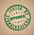 Old round stamp of approval vector image vector image
