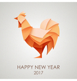 Origami Silhouette of cock or chicken vector image vector image